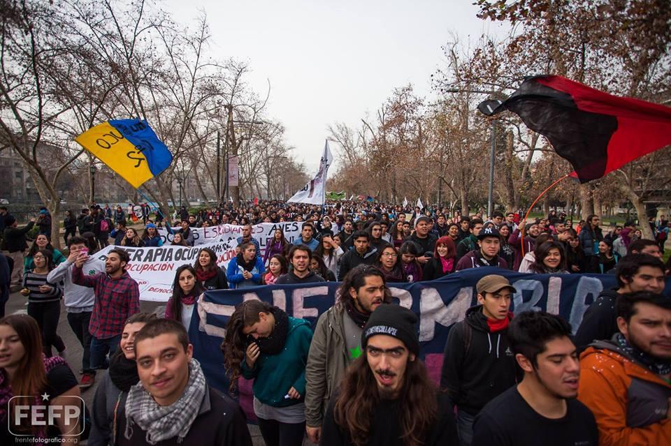 Aksi pelajar dan mahasiswa di Chile