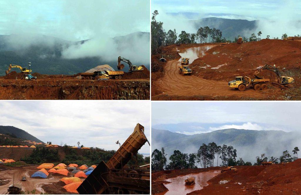 Gambar 3: Aktifitas PT. YBB di Tanjung Epa. Pengangkutan tanah merah atau bahan mentah nikel yang siap diekspor. Sumber:http://maluku-tercinta.blogspot.co.id/2012/02/normal-0-false-false-false-en-us-x-none.html