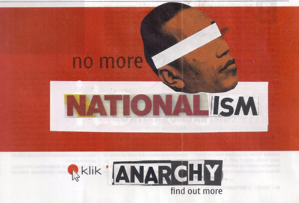 menolak nasionalisme dan patriotisme