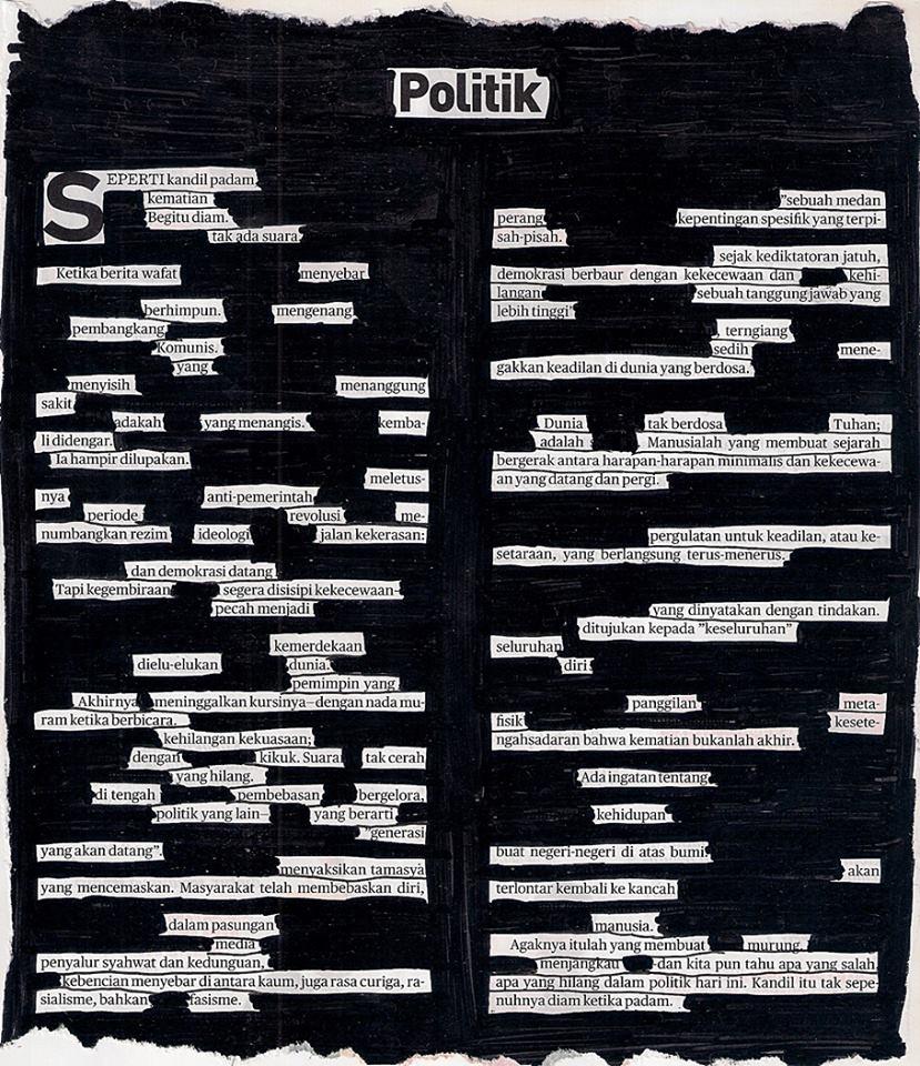 """""""Politik"""" (ilustrasi oleh Senartogok)"""